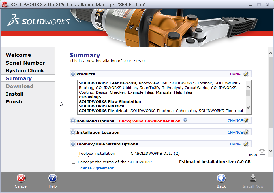 2016-01-21 14_00_36-SOLIDWORKS 2015 SP5.0 Installation Manager (X64 Edition)