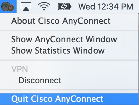 Close Cisco VPN